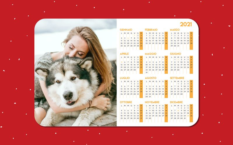 Calendario Mousepad Arancione