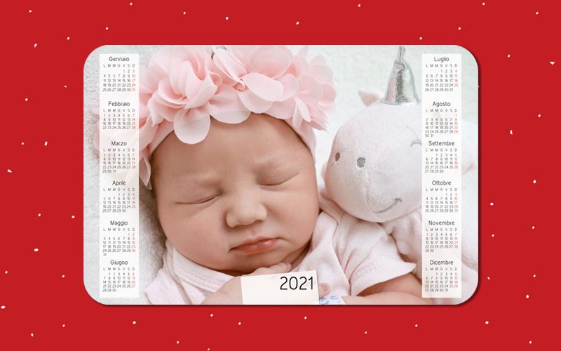 Calendario Mousepad Foto Piena