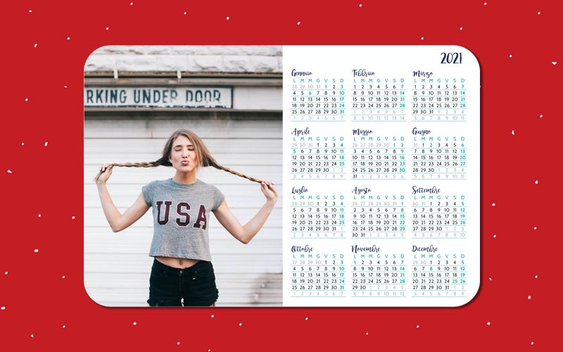 Calendario Mousepad Fresh
