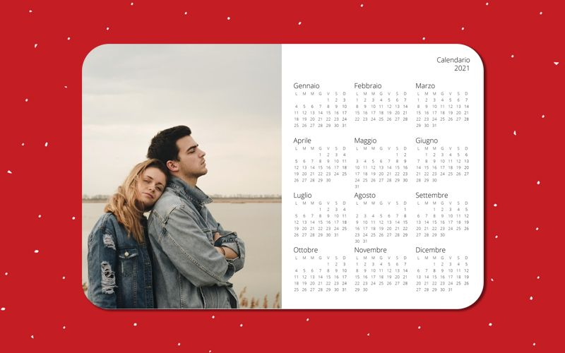 Calendario Mousepad Semplice