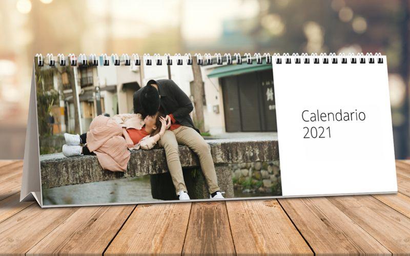 Calendario horizontal de mesa