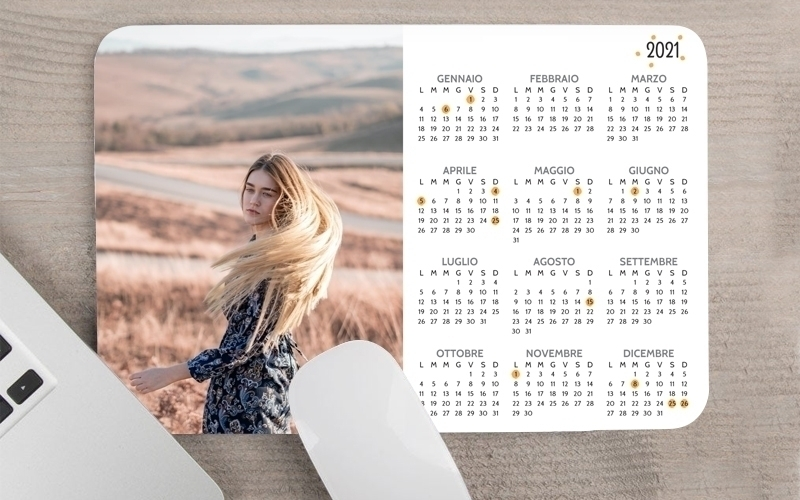 Calendario Mousepad